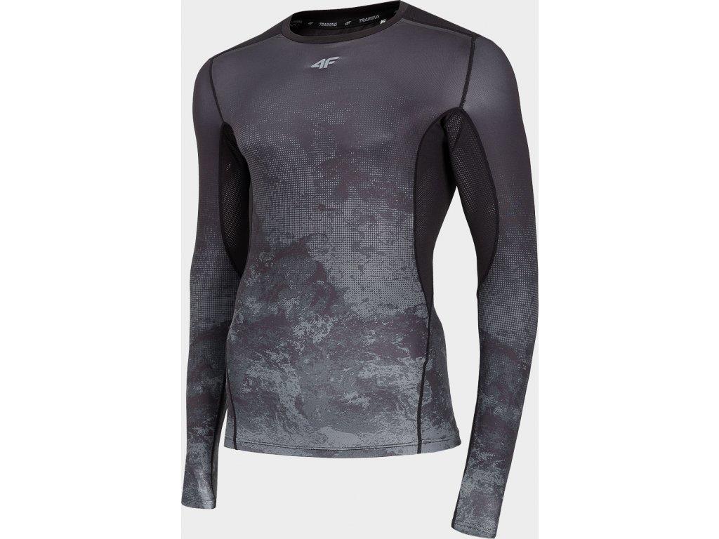 Koszułka męska sportowa 4F TSMLF260 Czarna
