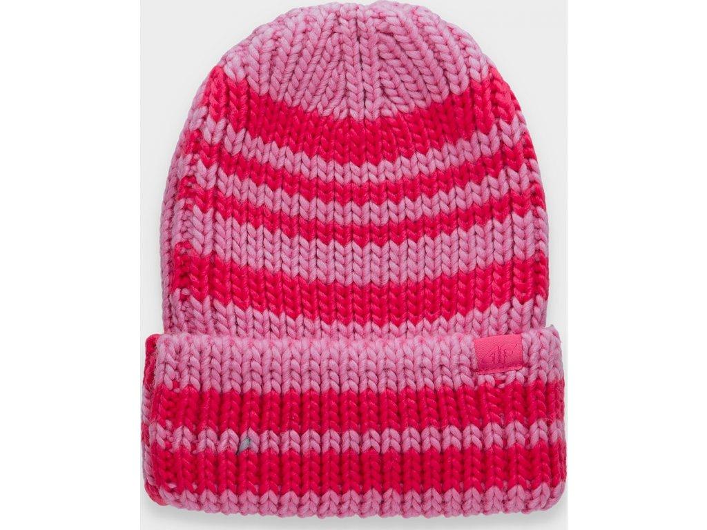 Damska czapka zimowa 4F CAD158 Różowy kolor