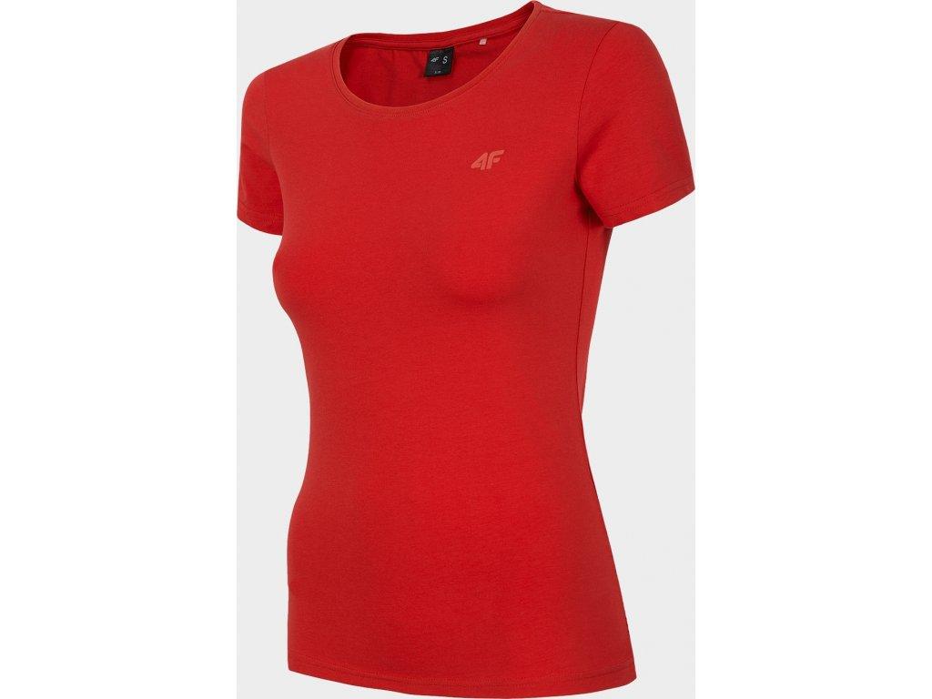 Koszułka damska 4F TSD300 Czerwona