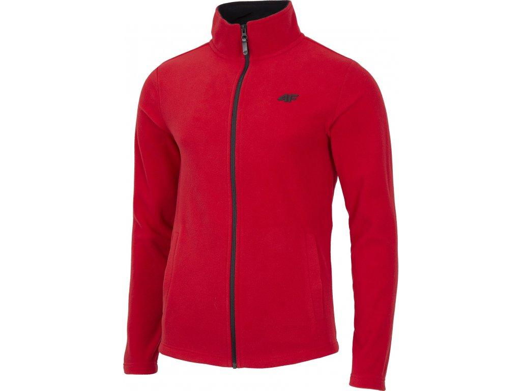 Bluza męska polarowa 4F PLM302 Czerwona