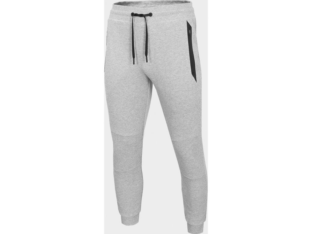 Męskie spodnie dresowe 4F  SPMD206 Jasnoszary