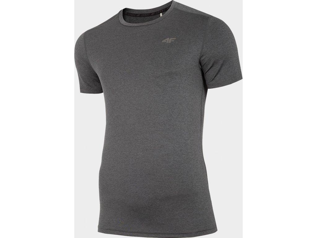 Męska funkcjonalna koszulka 4F TSMF301 Czarny melanż