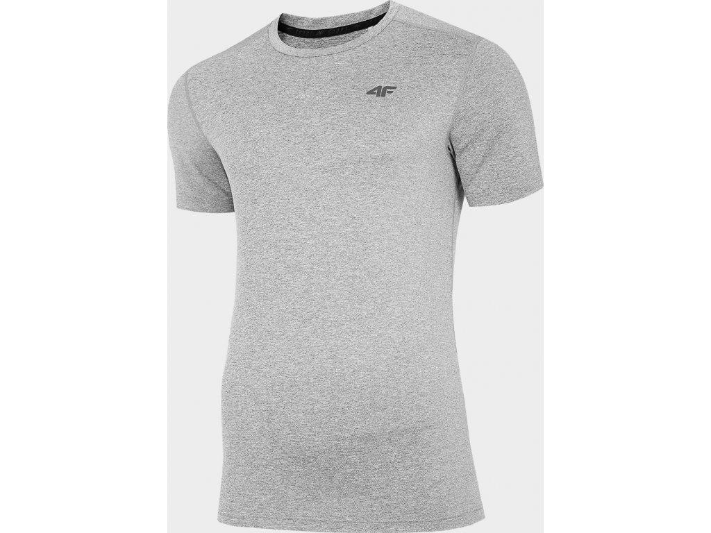 Męska funkcjonalna koszulka 4F TSMF301 Szary melanż