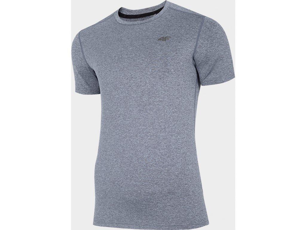 Męska funkcjonalna koszulka 4F TSMF301 Niebieski melanż