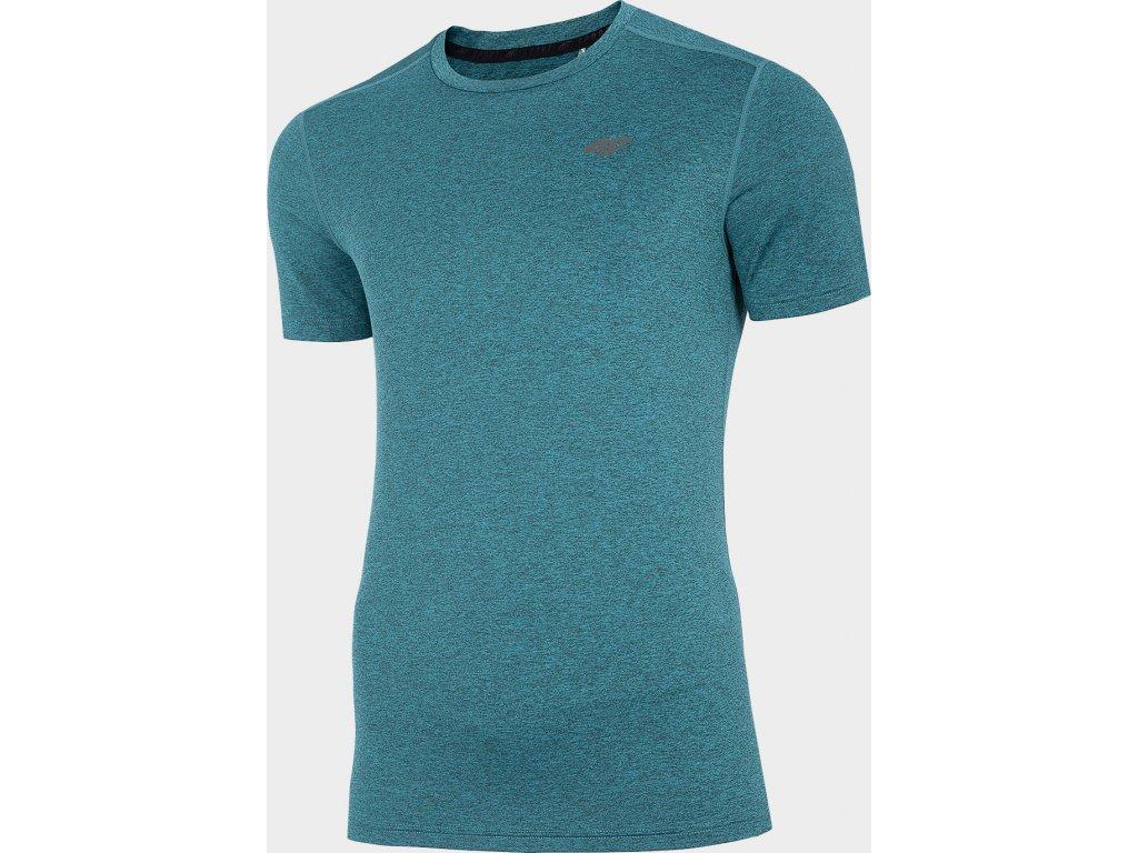 Męska funkcjonalna koszulka 4F TSMF301 Zielony melanż