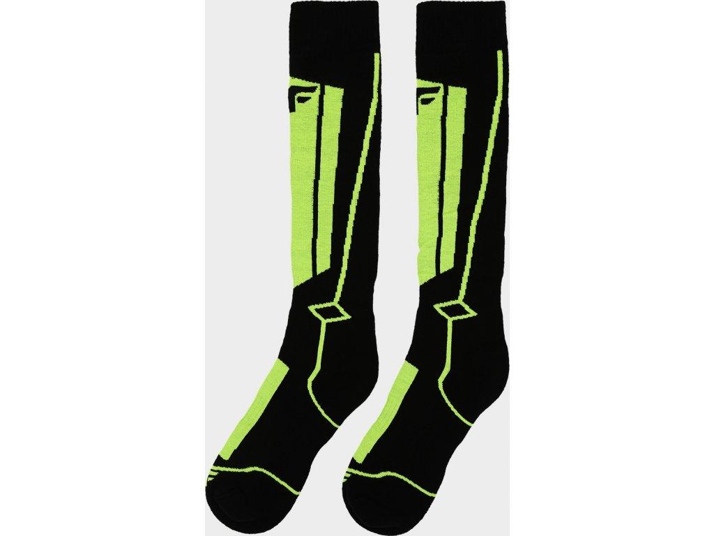 Skarpetki narciarskie chłopiece 4F JSOMN400 Zielone