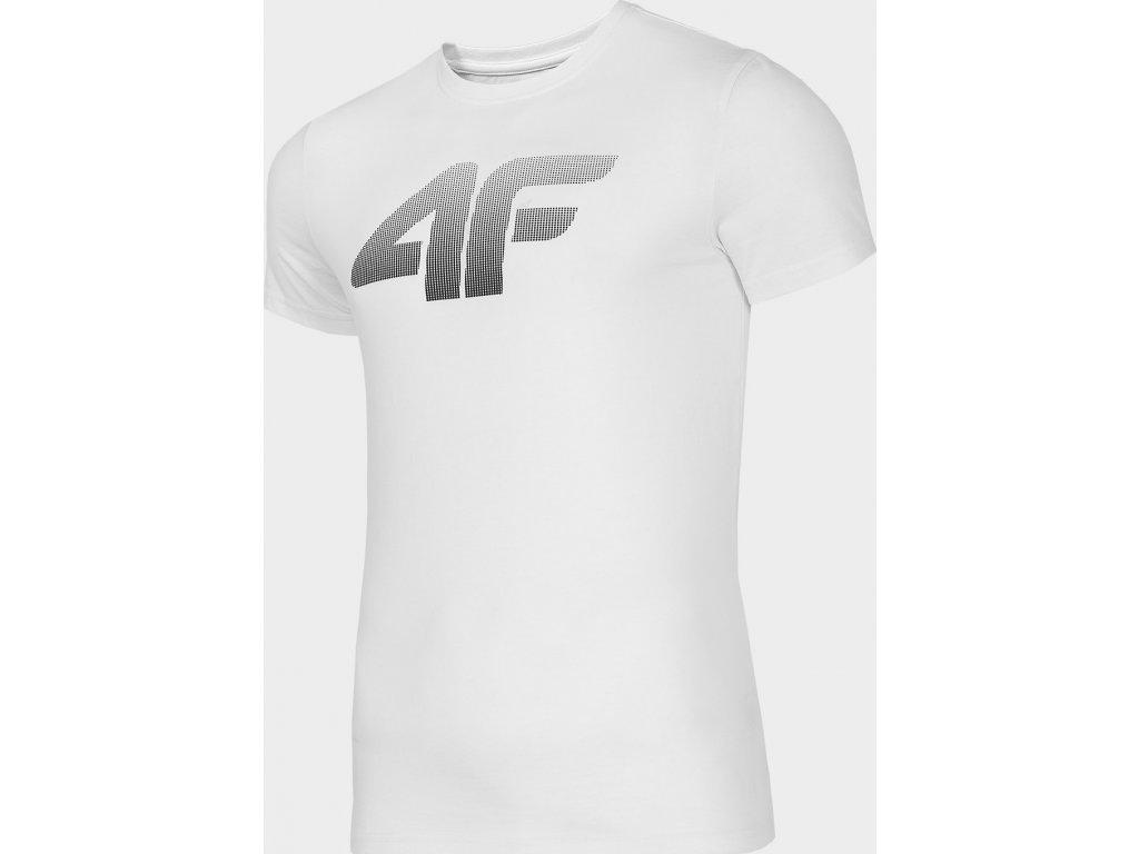 Koszułka męska bawełniana 4F TSM302 Biała