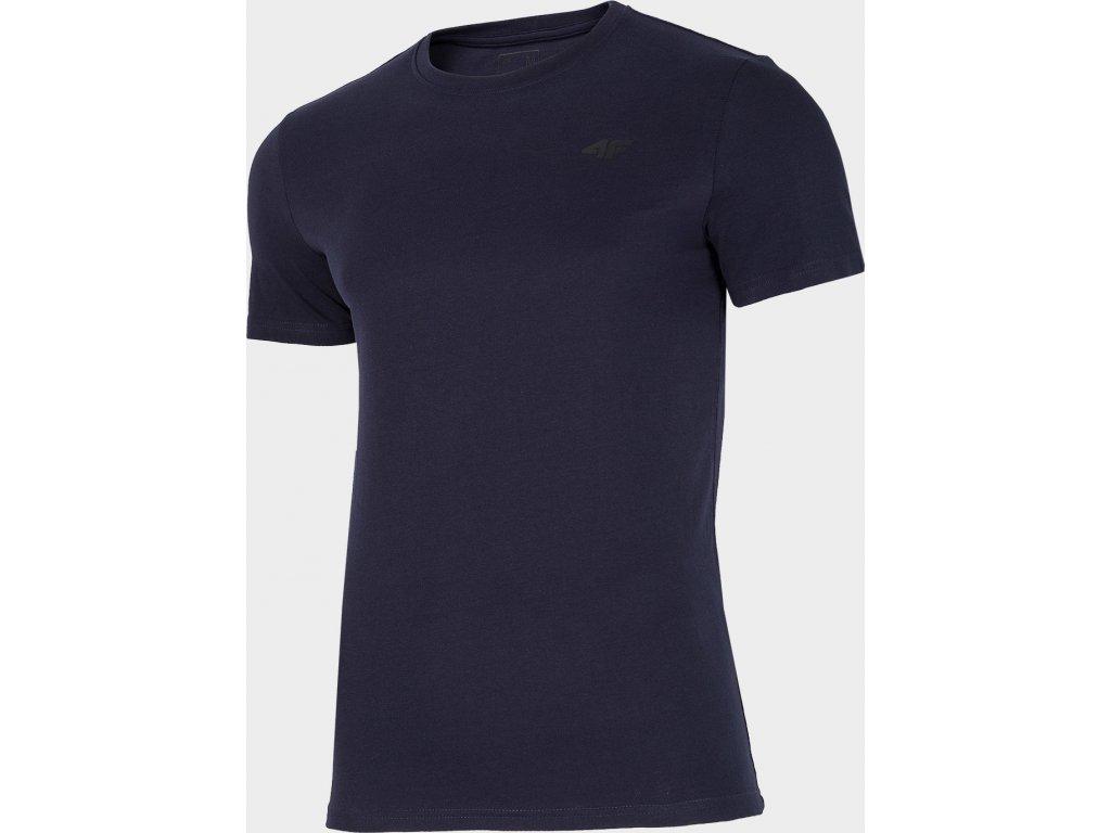 Koszułka męska bawełniana 4F TSM300 Granatowa