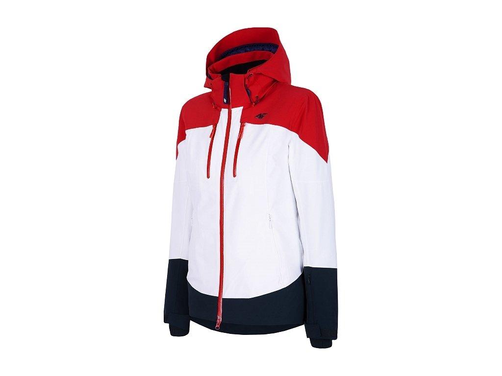 Damska kurtka narciarska 4F KUDN011 Czerwony kolor