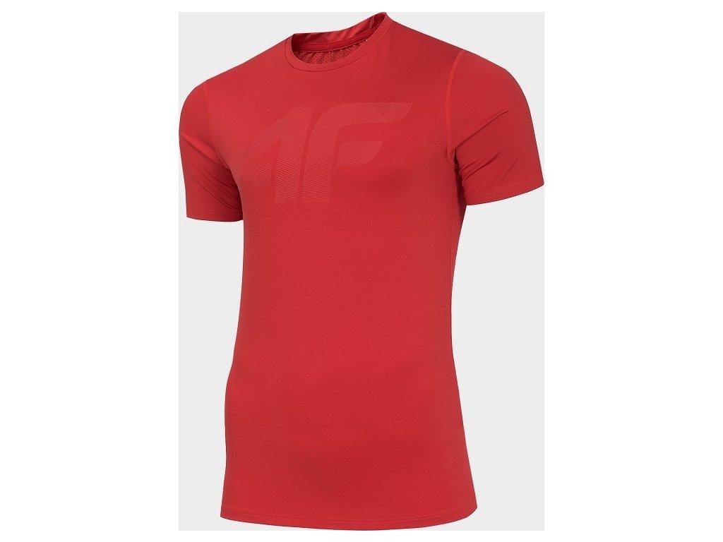 Koszułka męska sportowa 4F TSMF004 Czerwona