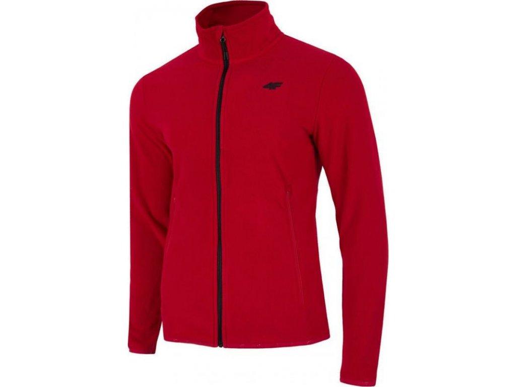Męska bluza polarowa 4f PLM071 Czerwona