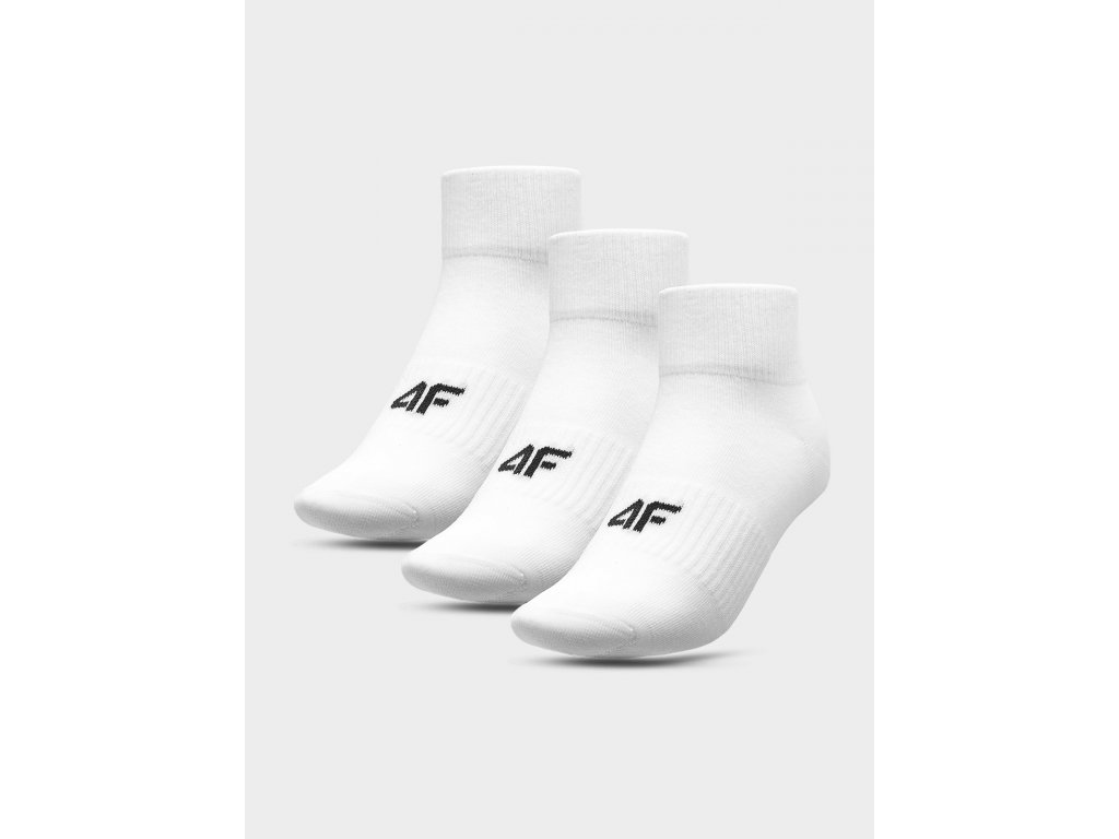 Pánské ponožky 4F SOM302 Bílé (3páry)