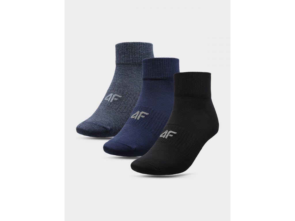 Pánské ponožky 4F SOM302 Modrá Černá (3páry)