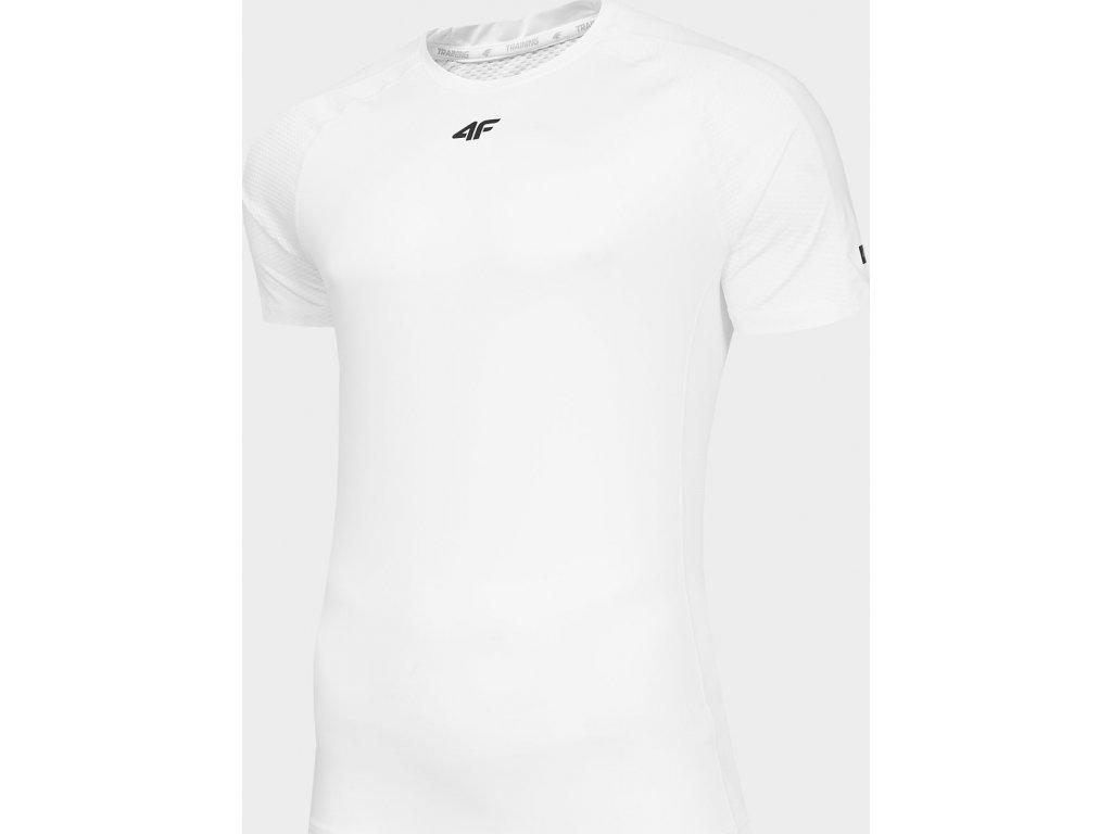 Koszułka męska sportowa 4F TSMF290 Biała