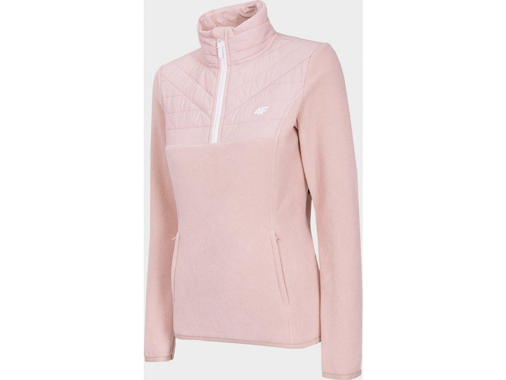 Damska bluza polarowa 4F PLD005 Jasna różowa