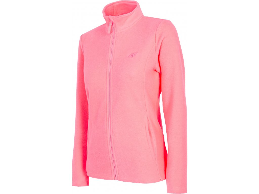 Damska bluza polarowa 4F PLD001 Jasna różowa