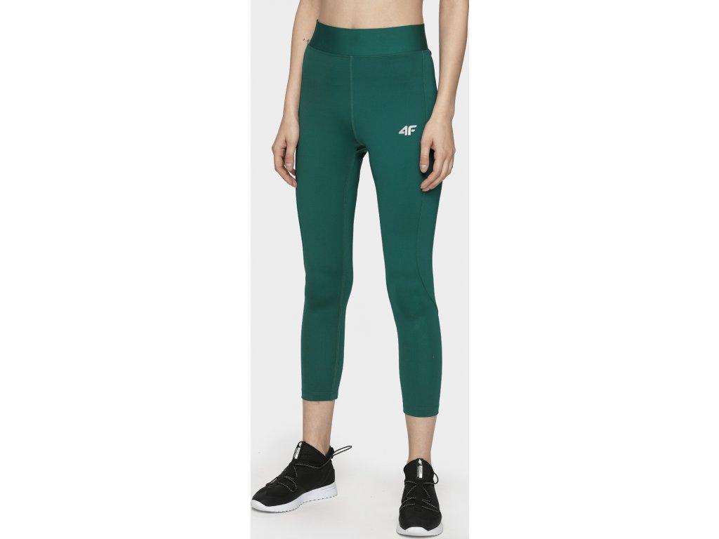 Legginsy damskie sportowe 4F SPDF283 Zielone