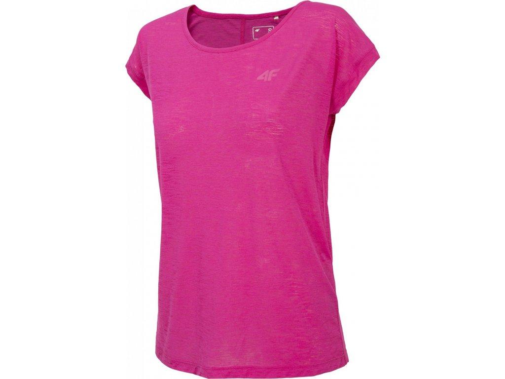 Koszułka damska sportowa 4F TSDF282 Różowa