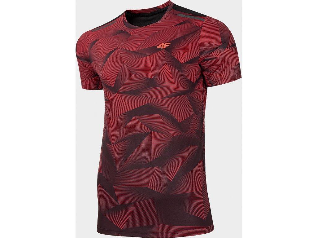 Koszułka męska sportowa 4F TSMF274 Czerwona