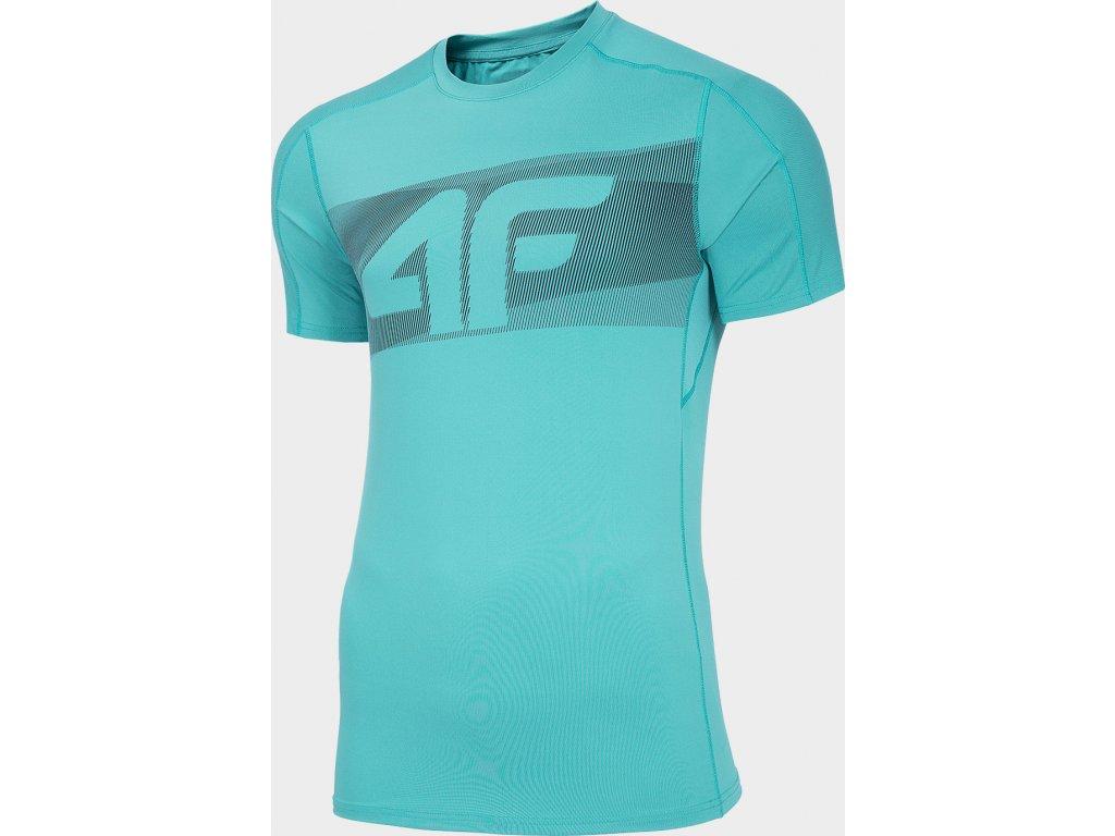 Koszułka męska sportowa 4F TSMF283 Jasna niebieska