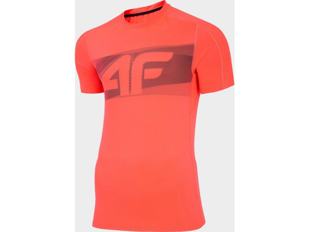 Koszułka męska sportowa 4F TSMF283 Czerwona