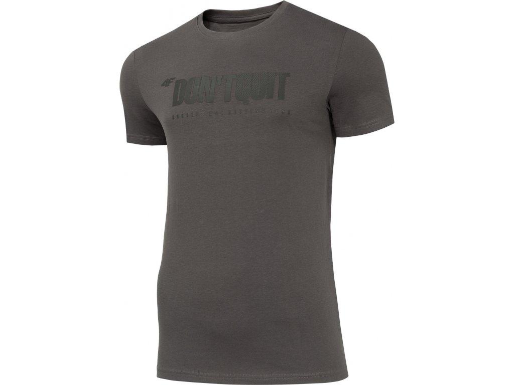 Koszułka męska bawełniana 4F TSM074 Szara