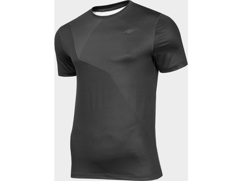 Koszułka męska sportowa 4F TSMF002 Czarna