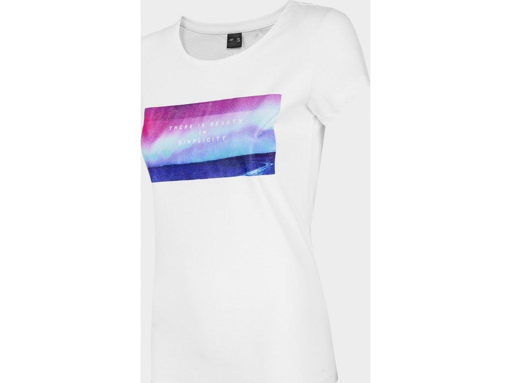Koszułka damska 4F TSD202 Biała