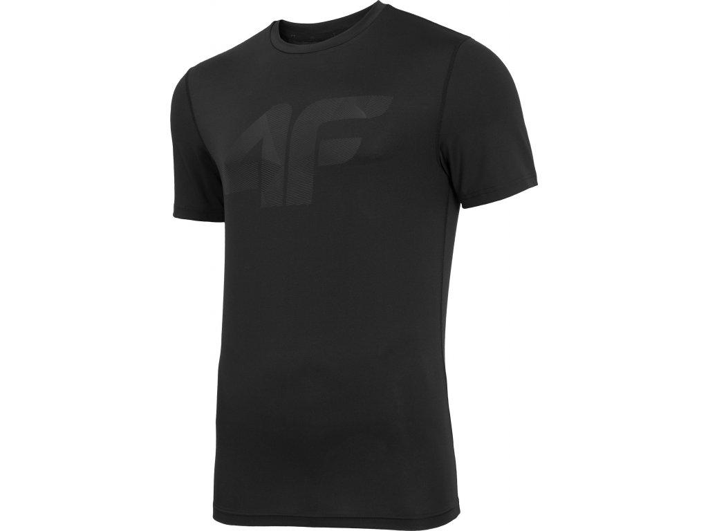 Koszułka męska sportowa 4F TSMF004 Czarna