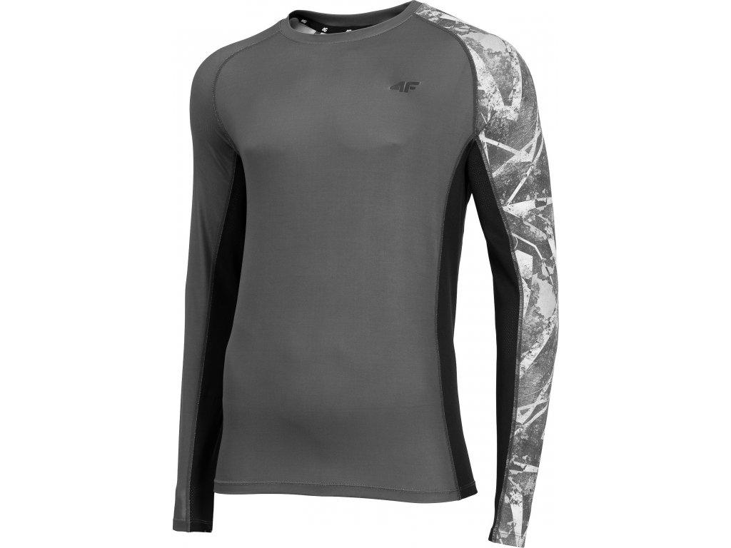 Koszułka męska sportowa F TSMLF002 Grafitowa