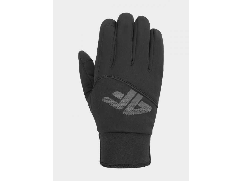 Rękawice softshell unisex 4F REU100 Czarne