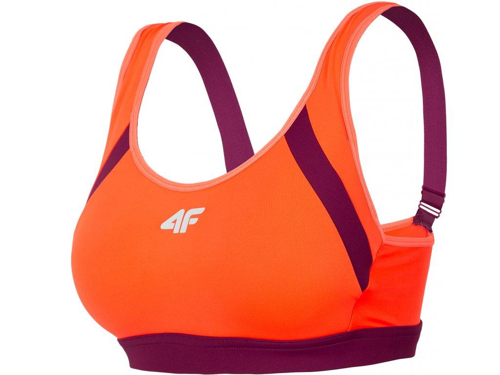 Biustonosz do biegania 4F STAD160 Pomarańczowa