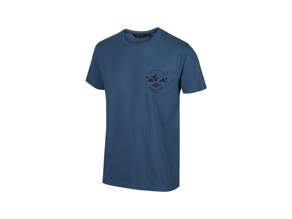 Koszułka męska REGATTA RMT206 Cline IV Niebieska