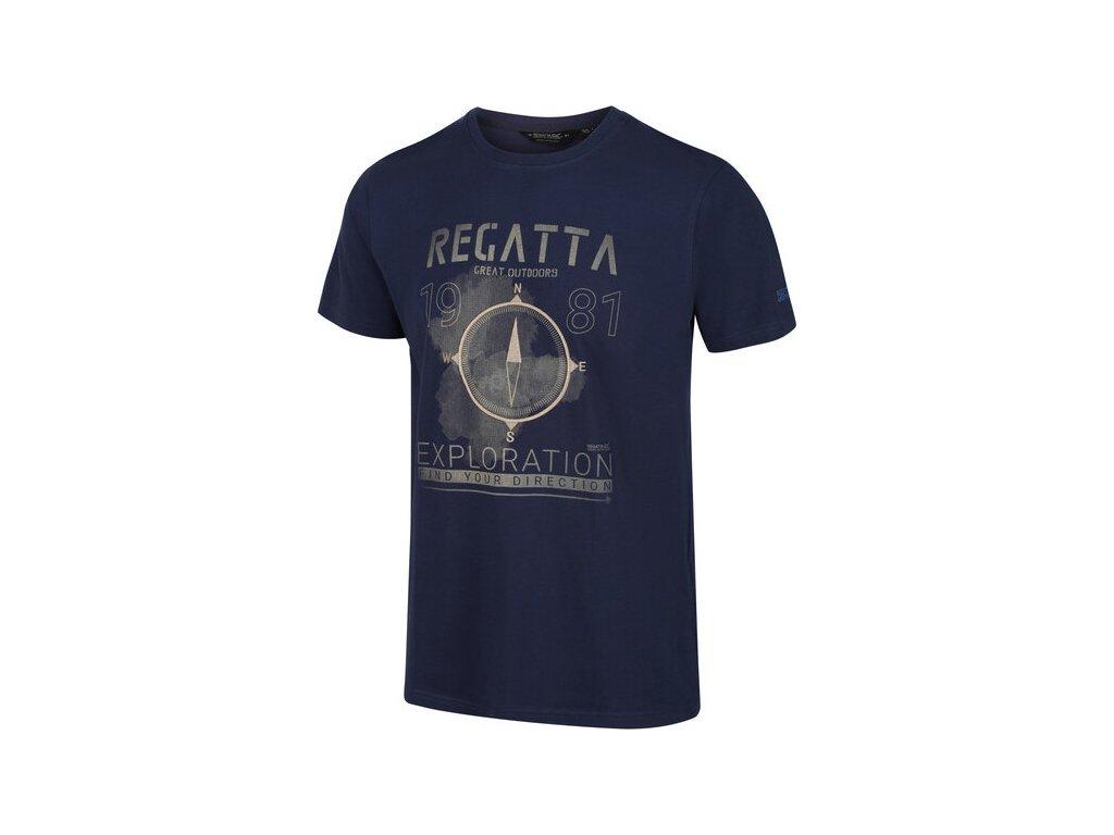 Koszułka męska REGATTA RMT206 Cline IV Granatowa