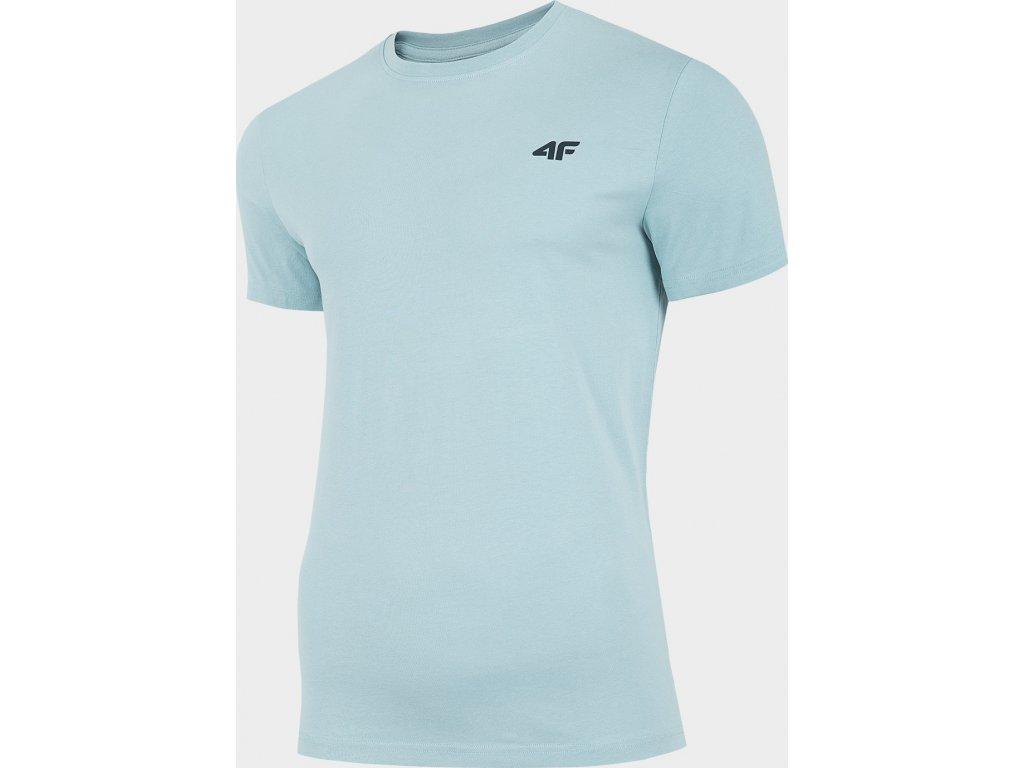 Koszułka męska bawełniana 4F TSM300 Jasna Niebieska