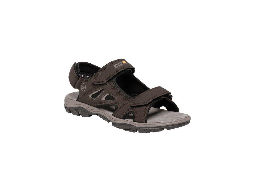 Pánské sandály RMF605 REGATTA Holcombe Vent Hnědé