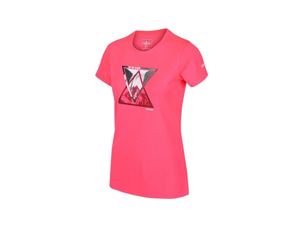 Koszułka damska sportowa REGATTA RWT204 Fingal V Różowa