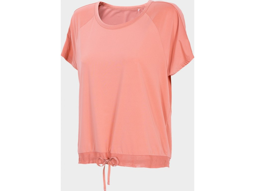 Koszułka damska do jogi 4F TSDF401 Różowa
