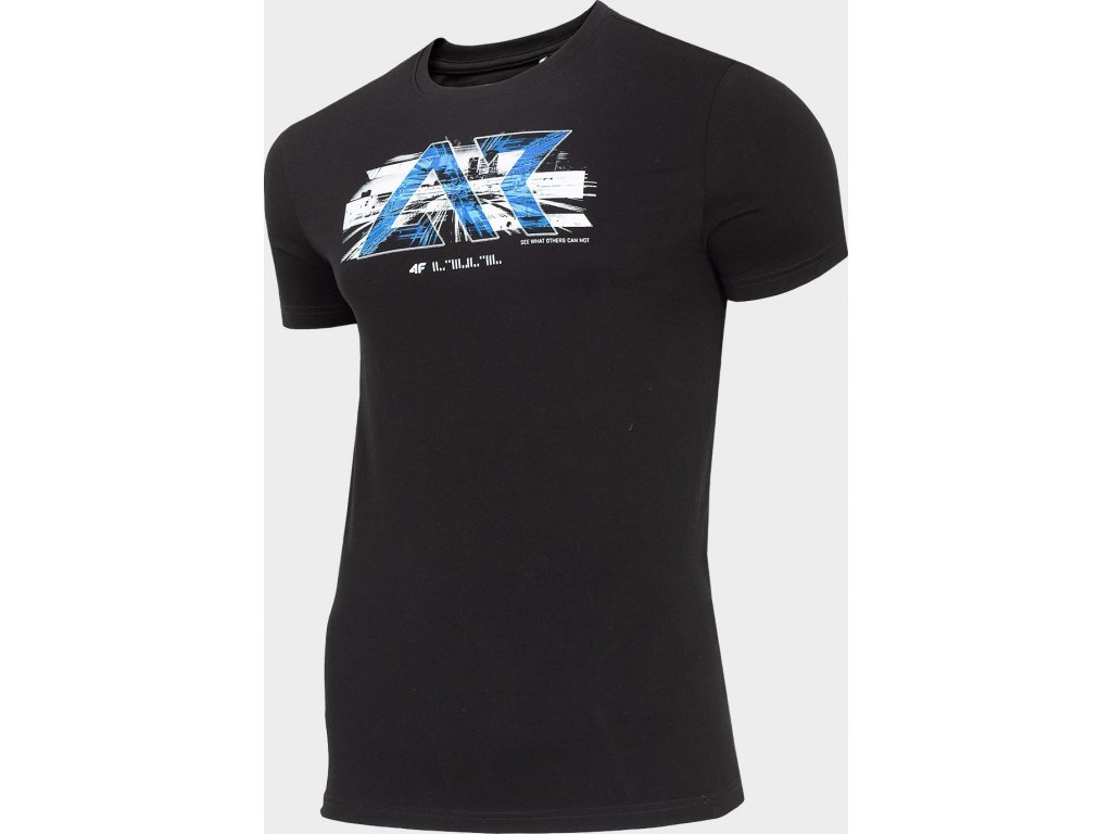 Koszułka męska bawełniana 4F TSM211 Czarna