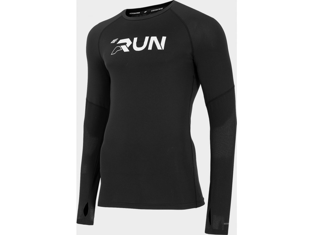 Koszułka męska do biegania 4f TSMLF101 Czarna