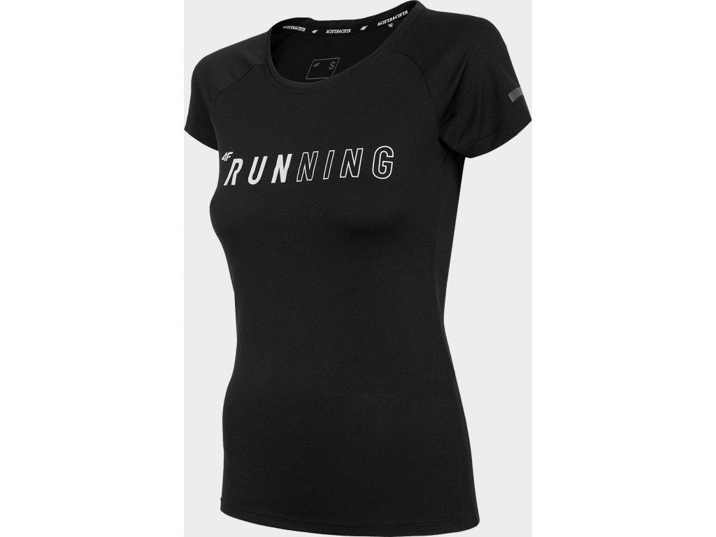 Koszułka damska do biegania 4F TSDF100 Czarna