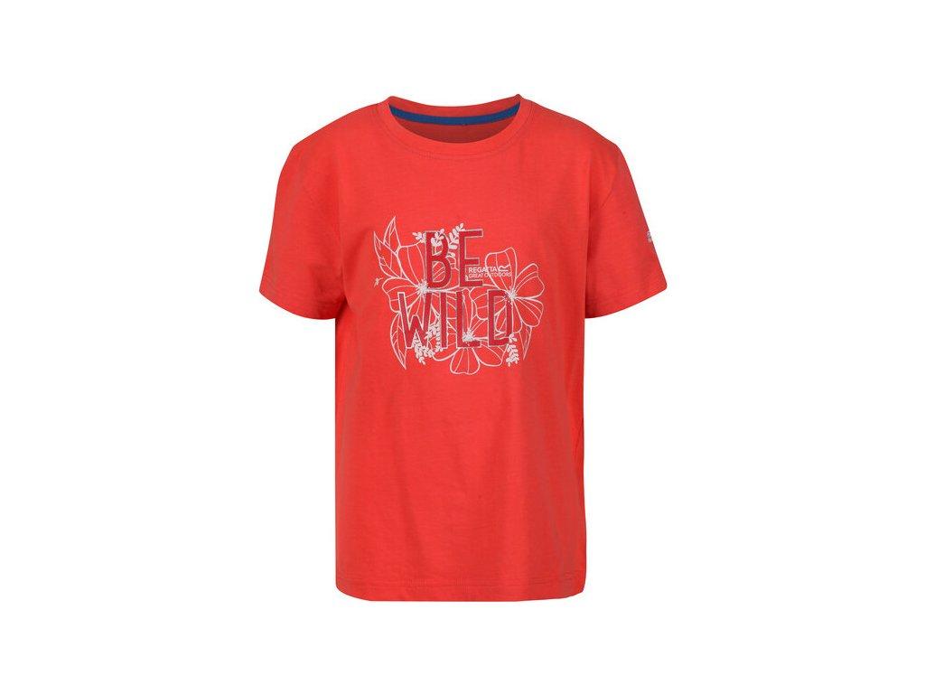 Koszułka dziecięca REGATTA RKT106 Bosley III Pomarańczowa
