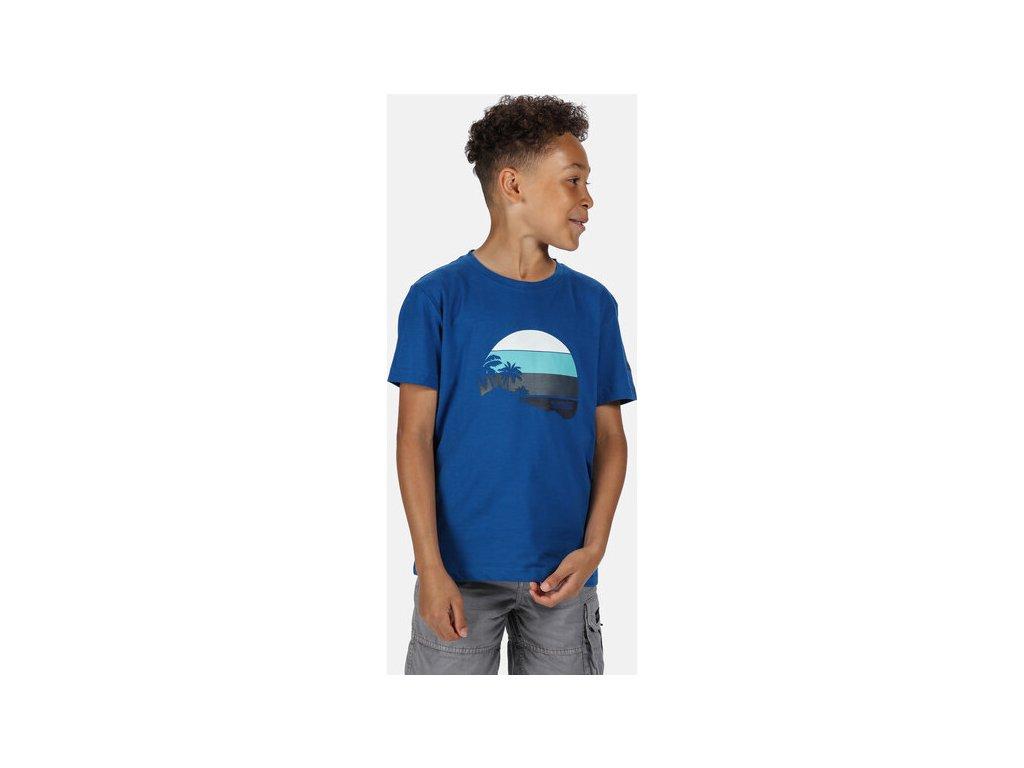 Koszułka dziecięca REGATTA RKT106 Bosley III Niebieska