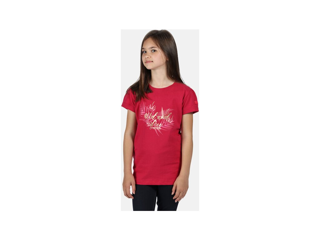 Koszułka dziecięca REGATTA RKT106 Bosley III Różowa