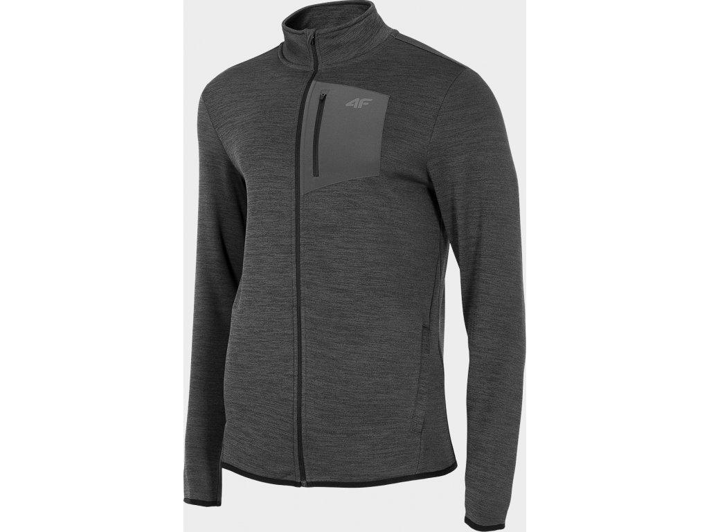 Bluza męska sportowa 4F BLMF502 Grafitowa