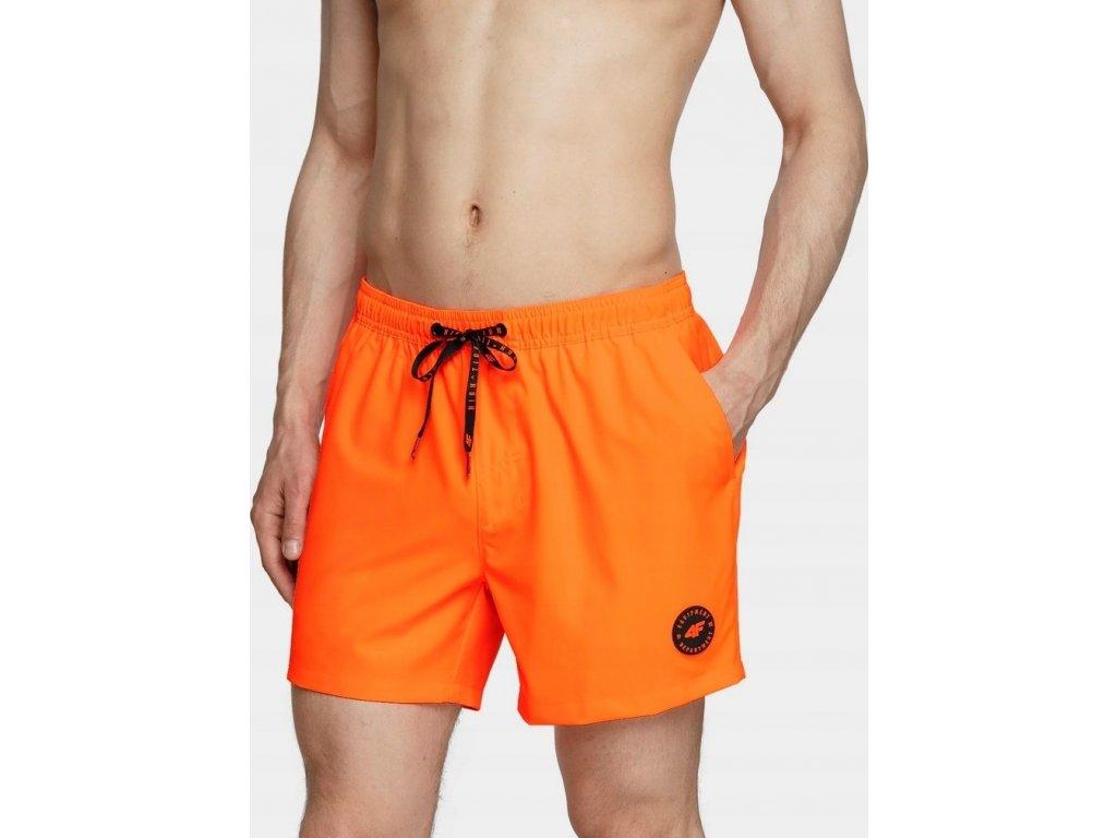 Spodenki męskie kąpielowe 4F SKMT001 pomarańczowe