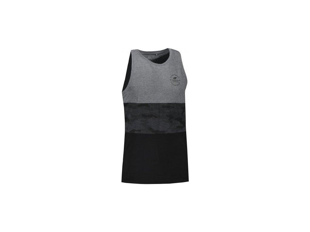 Koszułka męska bez rękawów 4F TSM303 szara