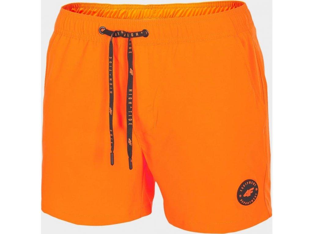 Męskie szorty plażowe SKMT300 Pomarańczowe