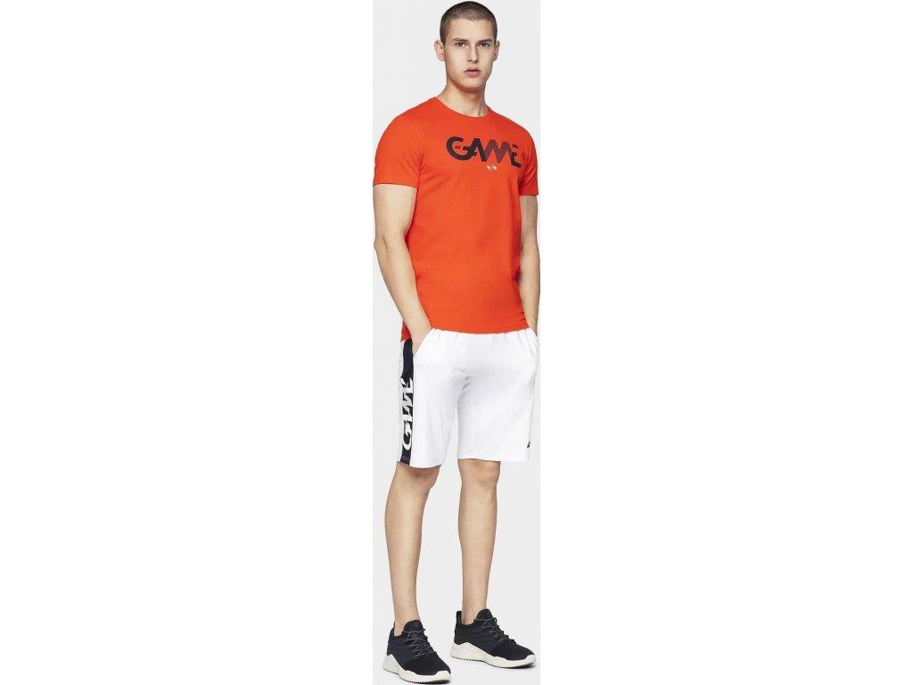 T-shirt męski 4F TSM028 pomarańczowy