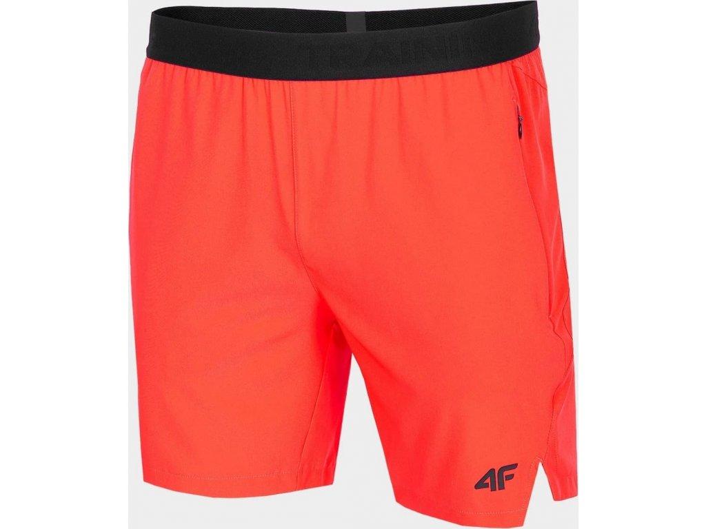Spodenki męskie funkcjonalne 4F SKMF014 czerwony neon